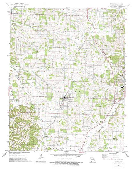 printable map exeter exeter topographic map mo usgs topo quad 36093f8