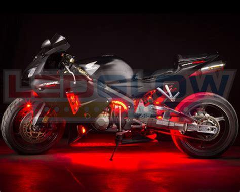 Lu Led Motor 3 Titik ledglow 6pc led motorcycle engine accent light kit lu mc r 6pc ebay