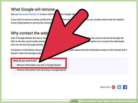 Remove From Search How To Delete Your Name From Search Engines With Pictures