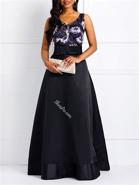 above knee belt sleeveless expansion s maxi dress shoespie