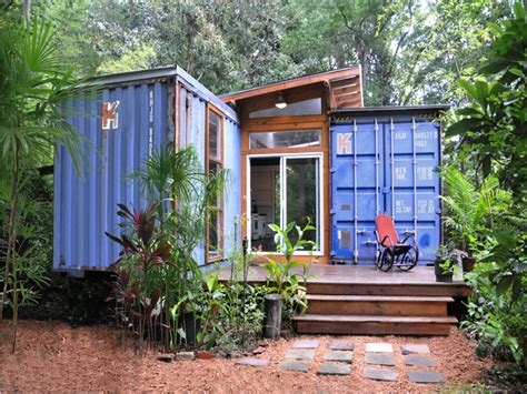small houses projects shipping container tiny home shipping container hunting