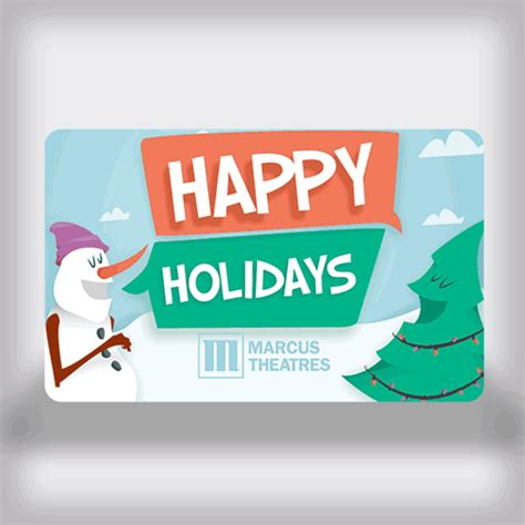 Movie Theatre Gift Card - marcus theatres holiday movie gift card snowman tree edition