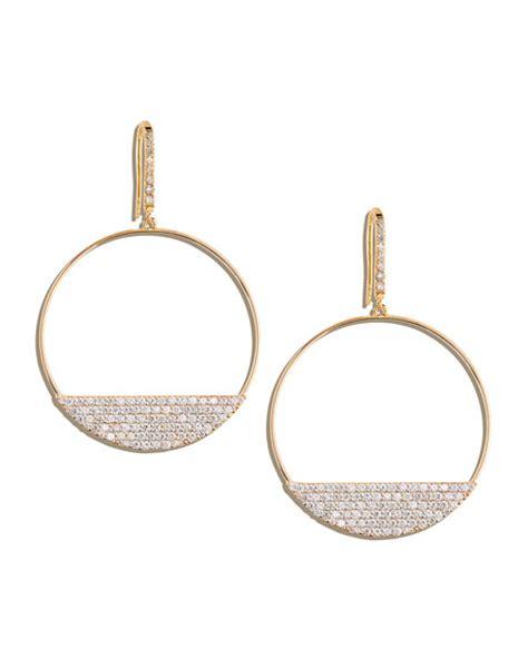 fatale 14k gold eclipse hoop earrings