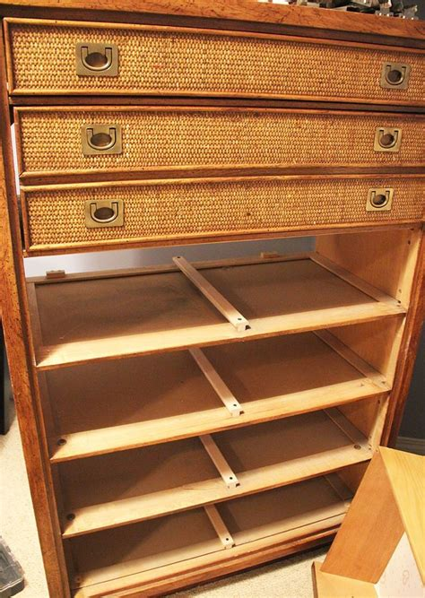 old wood dresser drawers stick mcm dresser rescue with new hardware and drawer slides