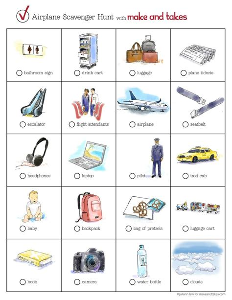printable games to play on a plane printable airplane scavenger hunt for kids road trips