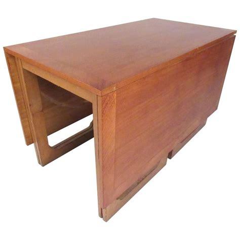 Teak Drop Leaf Dining Table Modern Drop Leaf Teak Dining Table For Sale At 1stdibs