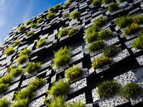 Vertical Garden Facade Architecture Corner Green Walls Green Cast Facade By