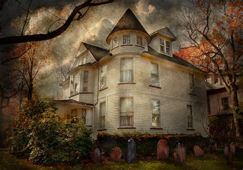 art for house fantasy haunted the caretakers house by mike savad