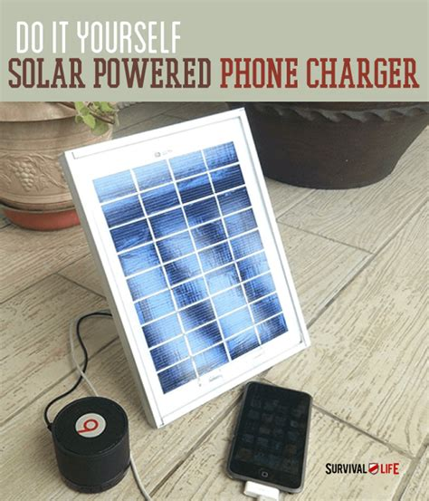 diy solar phone charger diy solar powered cellphone charger survival life