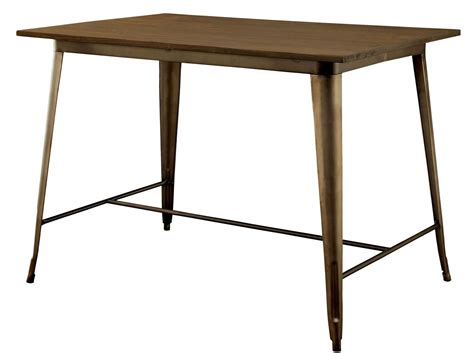 elm counter table cooper ii elm wood top counter height table from furniture