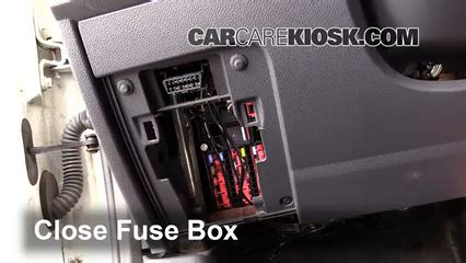 interior fuse box location   ford transit connect