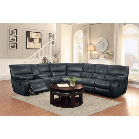 sectional sofa with console homelegance pecos casual sectional sofa with console and