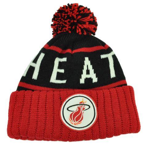 Hk Lindy Free Pompom mitchell ness bkrd miami heat cuffed pom pom knit beanie skully basketball ebay