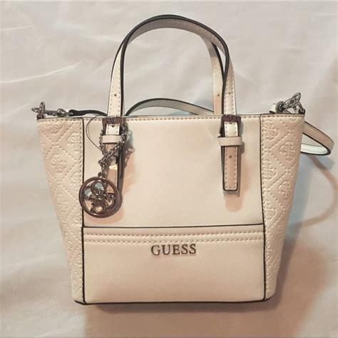 Tas Guess Delaney Mini Original Bag 38 guess handbags nwt guess white delaney mini tote from s closet on poshmark