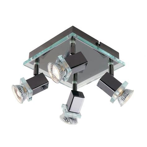 Kitchen Spot Lighting Spirit Black Chrome Square Kitchen Spot Light Cluster