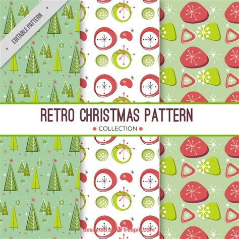 retro christmas pattern vector free set of retro christmas patterns vector free download