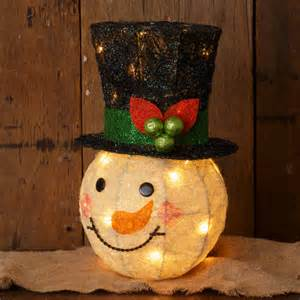 lighted snowman head christmas tree topper shelley b