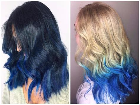 dark hairstyles and colours awesome blue ombre hair color light and dark shades pics