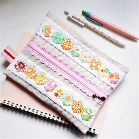 Patchwork Pencil - a happy place lovely patchwork back to