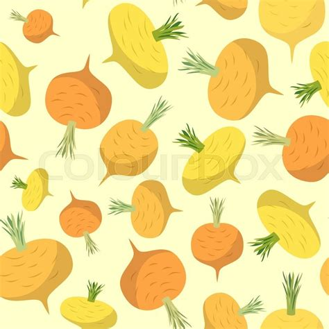 turnip pattern new leaf turnip seamless pattern vegetable vector background ripe