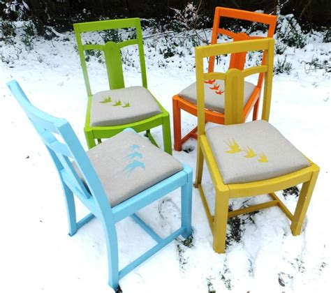 Upcycled Dining Room Chairs by Upcycled Vintage Dining Chairs