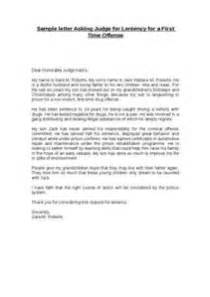 Exle Support Letter To Judge Sle Letters To Judges Before Sentencing Letter Of Recommendation