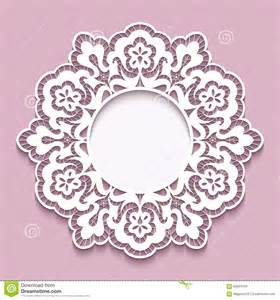 Paper Shapes Template by Lace Doily Cutout Paper Frame Template Stock Vector