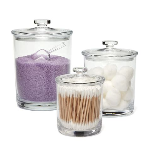 glass canisters for bathroom bliss acrylic canisters the container store