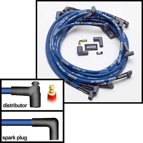 sbc non resistor spark plugs moroso ultra 40 race spark wire set sbc valve cover non hei