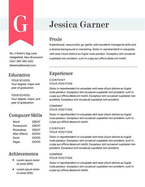 resume template the garner resume design instant by