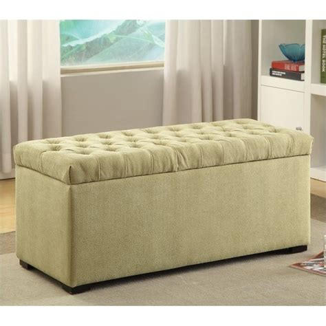 cloth storage bench fabric ottoman storage bench homelegance afton lift top