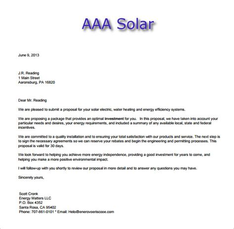 9 sales letter templates free sample example format