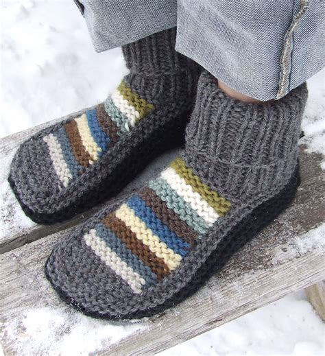 free patterns slippers slipper socks and boots knitting patterns in the loop