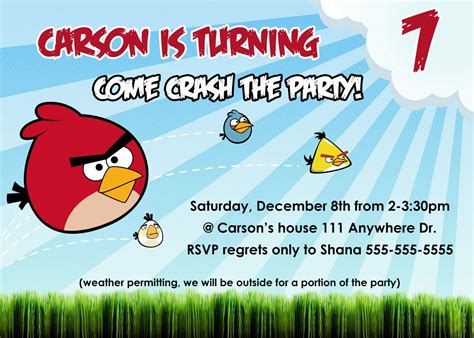 angry birds birthday invitation template free angry birds birthday invitation template free