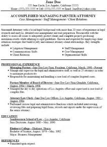 lawyer resume sles free resumes tips