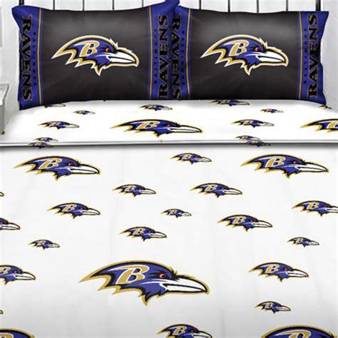 nfl bed sheets nfl baltimore ravens logo football full bed sheet set