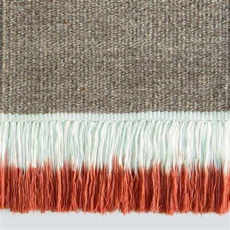 rugs ta dip dyed fringe rugs from sweden remodelista