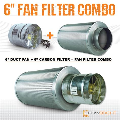 6 Quot X 18 Quot Carbon Air Filter Pro Combo Six Inch Duct Fan