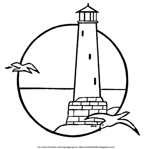 coloring page lighthouse a lighthouse coloring page color the bible