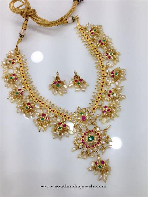 south hill design necklaces guttapusalu designs south india jewels