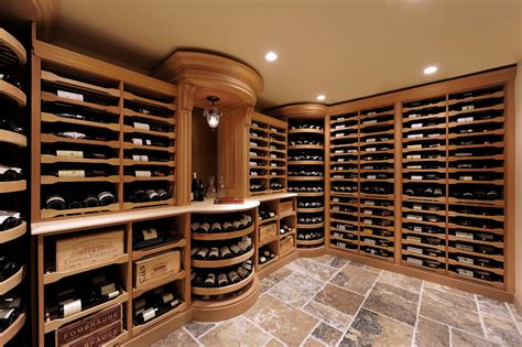 Lazy susan wine cellar traditional with ceiling lighting