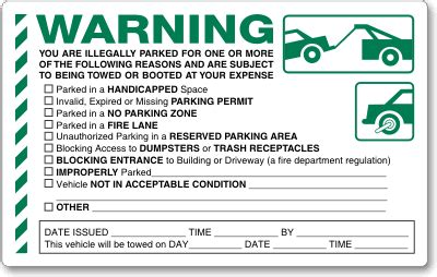 parking ticket template illegal parking stickers parking lot stickers