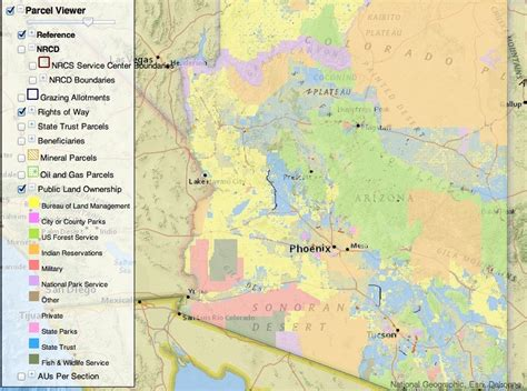 arizona blm land map interactive lands map from the arizona state land
