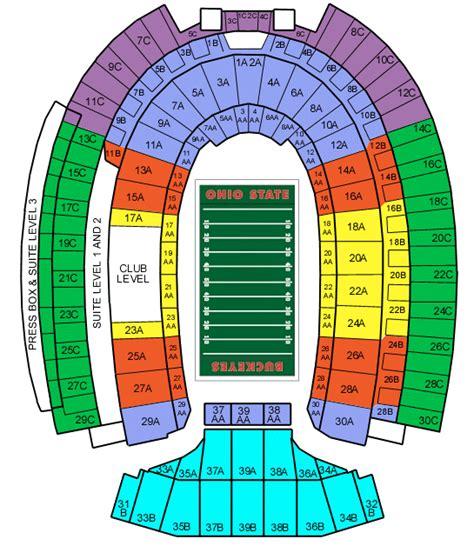 ohio state stadium seating chart ohio stadium tickets ohio stadium ohio state tickets