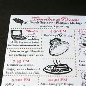 wedding club 187 wedding weekend timeline cards