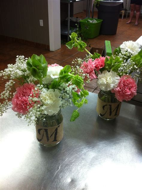 table arrangements in mason jars mason jar flower arrangements