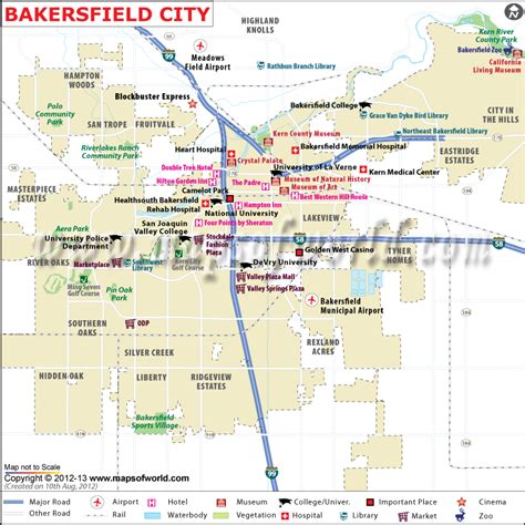 bakersfield california us map bakersfield city map map of bakersfield california