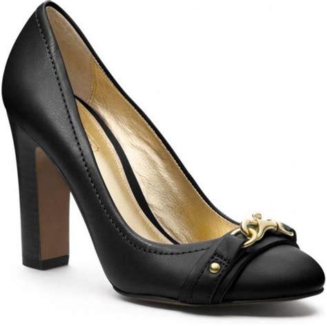 coach black high heels coach desaree dogleash heel in black black black lyst