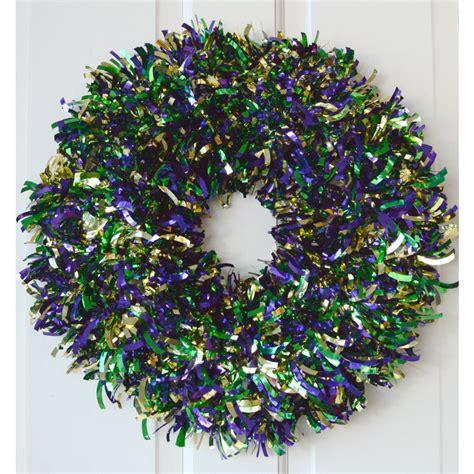 16 quot metallic tinsel wreath mardi gras 89361mg