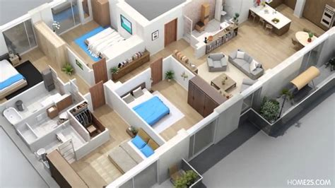 3d house and plan rendering max richter apartment designs shown with rendered 3d floor plans youtube